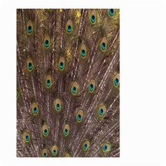 Purple Peacock Feather Wallpaper Small Garden Flag (Two Sides)