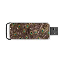 Purple Peacock Feather Wallpaper Portable USB Flash (Two Sides)