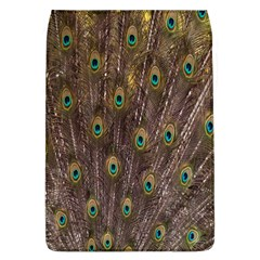Purple Peacock Feather Wallpaper Flap Covers (L)