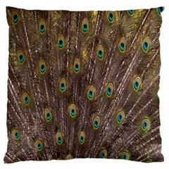 Purple Peacock Feather Wallpaper Standard Flano Cushion Case (Two Sides)
