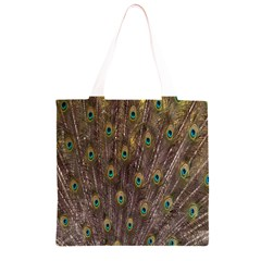 Purple Peacock Feather Wallpaper Grocery Light Tote Bag