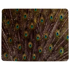 Purple Peacock Feather Wallpaper Jigsaw Puzzle Photo Stand (Rectangular)