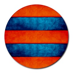 Red Blue Round Mousepads
