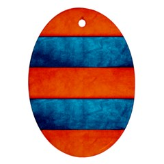 Red Blue Ornament (Oval)