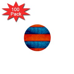 Red Blue 1  Mini Buttons (100 pack)