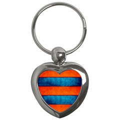 Red Blue Key Chains (Heart)