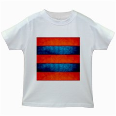 Red Blue Kids White T-Shirts