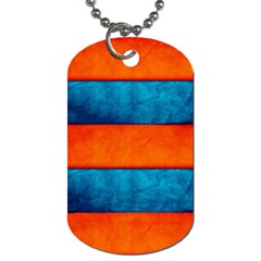 Red Blue Dog Tag (One Side)