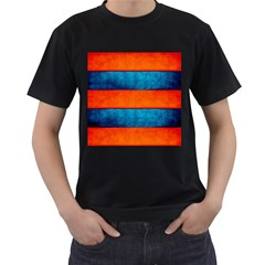 Red Blue Men s T-Shirt (Black) (Two Sided)
