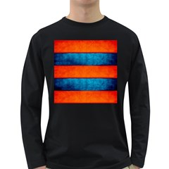 Red Blue Long Sleeve Dark T-Shirts