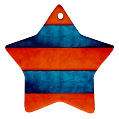Red Blue Star Ornament (Two Sides)