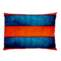 Red Blue Pillow Case