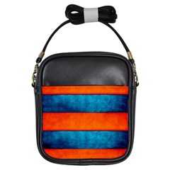 Red Blue Girls Sling Bags
