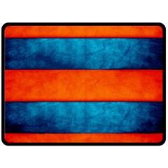 Red Blue Fleece Blanket (Large)