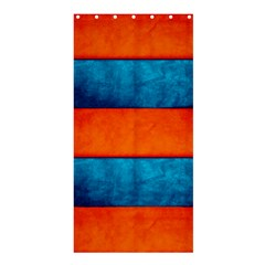 Red Blue Shower Curtain 36  x 72  (Stall)
