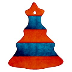 Red Blue Christmas Tree Ornament (2 Sides)