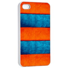 Red Blue Apple iPhone 4/4s Seamless Case (White)