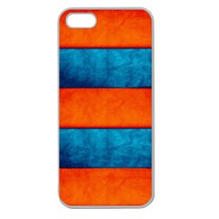 Red Blue Apple Seamless iPhone 5 Case (Clear)