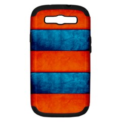 Red Blue Samsung Galaxy S III Hardshell Case (PC+Silicone)