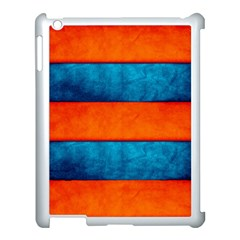 Red Blue Apple iPad 3/4 Case (White)
