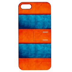 Red Blue Apple iPhone 5 Hardshell Case with Stand