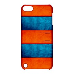 Red Blue Apple iPod Touch 5 Hardshell Case with Stand