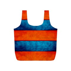 Red Blue Full Print Recycle Bags (S)