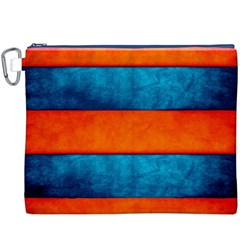 Red Blue Canvas Cosmetic Bag (XXXL)