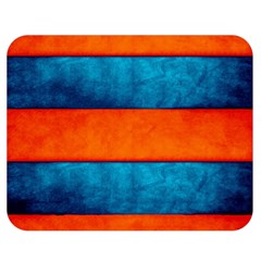 Red Blue Double Sided Flano Blanket (Medium)