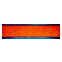 Red Blue Satin Scarf (Oblong)
