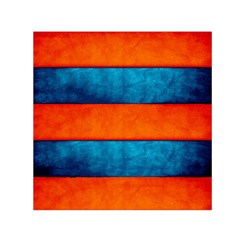 Red Blue Small Satin Scarf (Square)