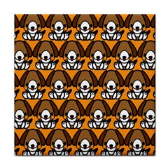 Sitbeagle Dog Orange Tile Coasters
