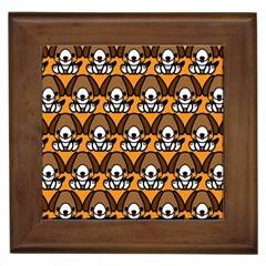 Sitbeagle Dog Orange Framed Tiles
