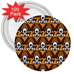 Sitbeagle Dog Orange 3  Buttons (100 pack)