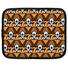 Sitbeagle Dog Orange Netbook Case (Large)