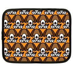 Sitbeagle Dog Orange Netbook Case (XL)