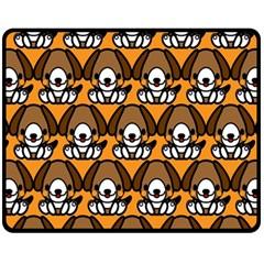 Sitbeagle Dog Orange Fleece Blanket (Medium)