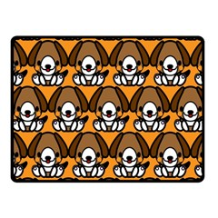 Sitbeagle Dog Orange Fleece Blanket (Small)