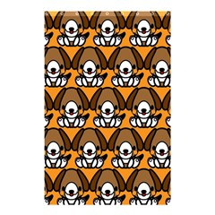 Sitbeagle Dog Orange Shower Curtain 48  x 72  (Small)