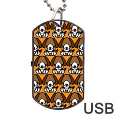 Sitbeagle Dog Orange Dog Tag USB Flash (Two Sides)