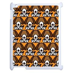 Sitbeagle Dog Orange Apple iPad 2 Case (White)