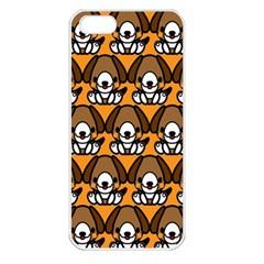Sitbeagle Dog Orange Apple iPhone 5 Seamless Case (White)
