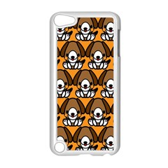Sitbeagle Dog Orange Apple iPod Touch 5 Case (White)