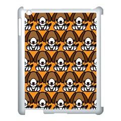 Sitbeagle Dog Orange Apple iPad 3/4 Case (White)