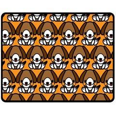 Sitbeagle Dog Orange Double Sided Fleece Blanket (Medium)