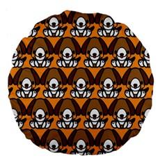 Sitbeagle Dog Orange Large 18  Premium Flano Round Cushions