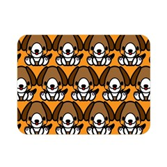 Sitbeagle Dog Orange Double Sided Flano Blanket (Mini)
