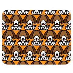 Sitbeagle Dog Orange Double Sided Flano Blanket (Medium)
