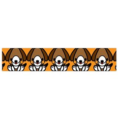 Sitbeagle Dog Orange Flano Scarf (Small)