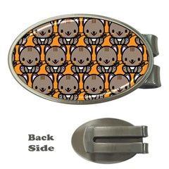 Sitcat Orange Brown Money Clips (Oval)